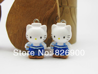 10 pcs Lovely Hello Kitty Pendant Charm Fashion Gifts ALK721 Wholesale