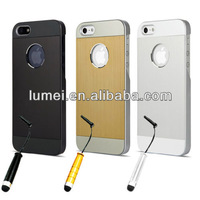 Brushed Aluminium Case Cover Profile Design For iPhone 5 5S Screen Protector