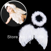 Infant Newborn Baby Angel Fairy Wing Costume Photo Prop