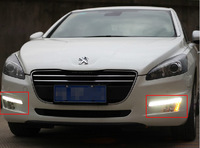 High quality LED Daytime running lights front Fog lamp Fog Lights For 2011-2013 Peugeot 508