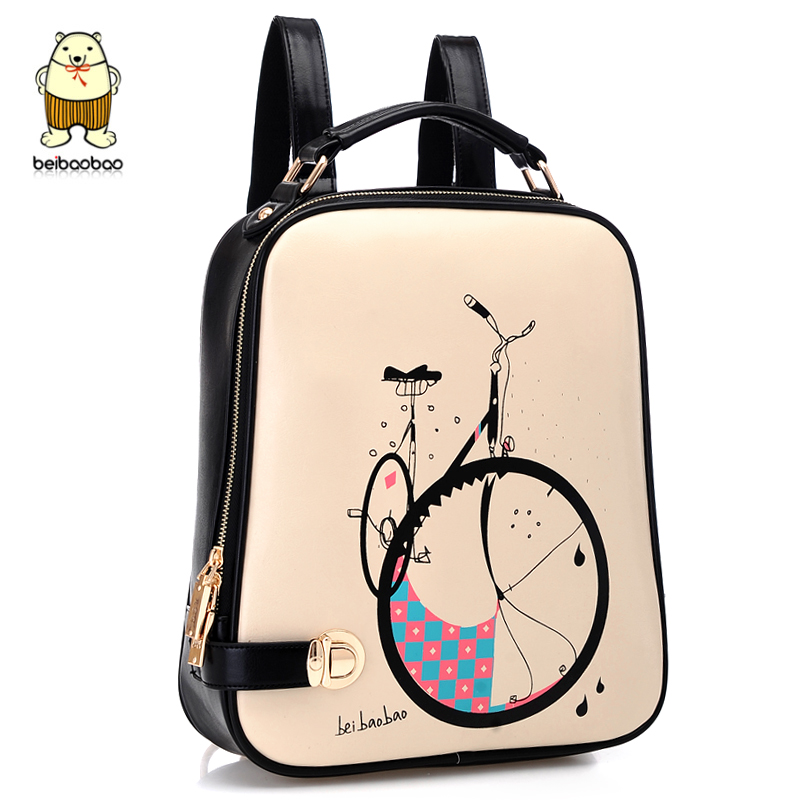Korean Cartoon Style Lady Backpack Women School Bag(China
