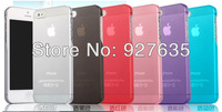 0.5mm Ultra Thin case for iPhone 5S,Slim Matte frosting Transparent Clear Cover Case For iPhone 5 5G 5S Free Shipping 10pcs/lot