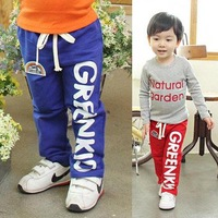 Kids apparel children's clothing child thickening letter trousers cotton casual pants for 3-10Y drop shipping wholesale