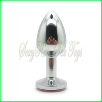 Wholesale metal anal plug, butt plug,sex toys,sex products 7.5X2.8CM