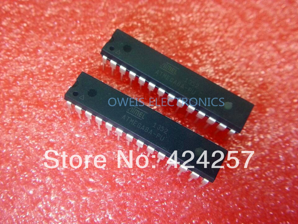 10pcs ATMEGA8 ATMEGA8A-PU DIP28 ICs10+ 8-bit AVR with 8K Bytes In-System Programmable Flash FREE SHIPPING(China (Mainland))