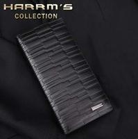 free shipping Hagen long design black male commercial wallet card case casual purse wallet