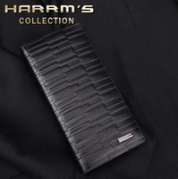 free shipping Hagen long design black male commercial wallet card case casual purse wallet