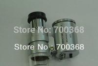 Freeshipping Mini 60X Microscope Loupe, 60X microscope magnifier with 3pcs LED 20pcs/lot