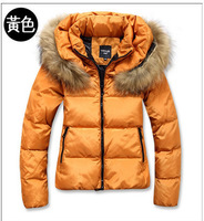 Short design thickening wadded jacket outerwear female 2013 autumn and winter slim cotton-padded jacket fur collar down coat