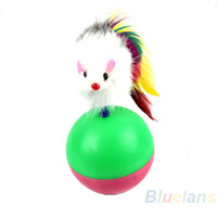 Home Cute Pet Cat Kitten Training Funny Mouse Mice Play Toy Tumbler Ball Products Gift Wholesale Sale