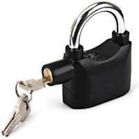 110dba Resistant Bad Weather Gift Hardened Steel Shackle Alarm Lock Black
