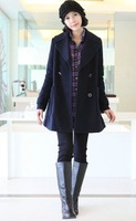 Fashion maternity clothing trench woolen outerwear autumn and winter solid color maternity clothing ladies fashion coat