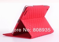 Luxury Lambskin PU Cover For Apple iPad Air ipad 5 Case Sleep Stand Flip Leather Case For  iPad Air 100pcs/lot freeshipping
