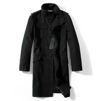 Double male medium-long 11 quality woolen overcoat outerwear