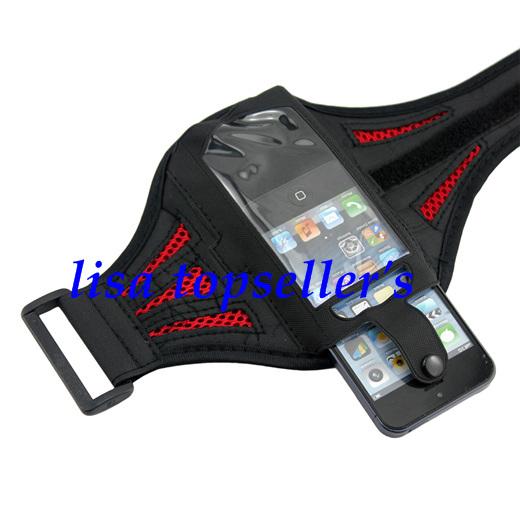 Для Apple iphone 5 G гимнастика тренировки спорт сетчатая ткань рука лента протектор крышка чехол 1 много / 100 шт