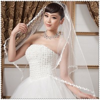 Bridal veil wedding dress veil hair accessory married gloves veil accessories laciness