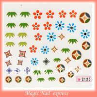 12 designs water transfer nail sticker flower butterfly fan print decal tips nail art decoration salon express nail