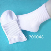 Sports Socks for mens  wholesale white and black and gray 1LOT =40 Pair Free Shipping