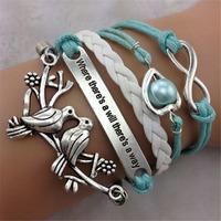 SL31225 Trendy Casual  multi-layer adjustable bracelets,vintage pendant bracelet,weave bracelets, 6pcs / lot & Free shiping