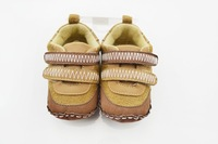 FREE SHIPPING  children's handmade toddler shoes/plush baby foot wears/ soft out sole small leather shoes/baby floor shoes
