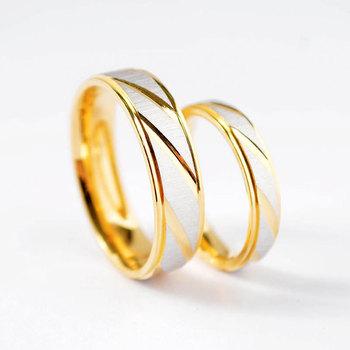 Мода Золото нержавеющей стали пары кольцо для мужчин и женщин свадьба Scrub кольца для любовника