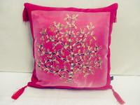 Chinese style back sofa suede fabric pachira cushion pillow cushion set customize