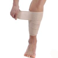 Kneepad shank bandage spiral wound sports bandage pad sports medical elastic bandage