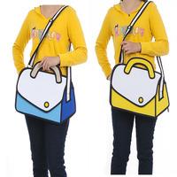 Hot-selling top cartoons bag 2d three-dimensional bag women's handbag messenger bag 3d bags bag