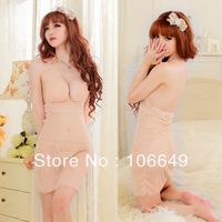 sexy lingerie babydoll light pure transaprent dress+g string 2pcs new set sleepwear costum uniform kimono underwear