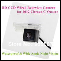 Free Shipping HD CCD Backup car rearview camera for 2012 Citroen C-Quatre with 728*582 170 degree Angle  night vision waterproof