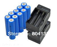 new 10pcs 14500 LED Torch Cameras AA Rechargeable Battery 2200mAh li ion and 2pcs Charger