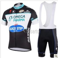 2014  new QUICK STEP   Team outdoor Cycling Jersey and bib Shorts