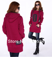 Winter Long And Loose Fleece Hoodie Coat For Pregnant Gravida As Maternity Clothes To Keep Warm.Free Shipping