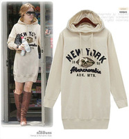 M~3XL!! New Autumn Laides Fashion Plus Size Clothing Letter Embroidered With Hoodies Cotton Fleece Long-sleeve Long Sweatshirts