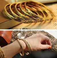 1082 Free shipping New bracelet bangles Jewelry retro  pepper talking letters meaning prayer Bracelet