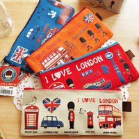 Flyby oxford fabric zipper pencil case paper bags stationery bags korea stationery