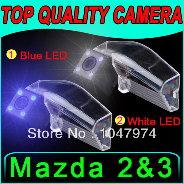 Auto car reverse camera Night Vision LED for Cmos GPS Chip for Mazda 2 & 3 color Reversing Parking color autoradio radio navi(China (Mainland))