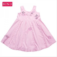 HK SUNO 2014 New fashion girl's corduroy dress high end kids sweet princess dress brand dress for girl chidren clothing