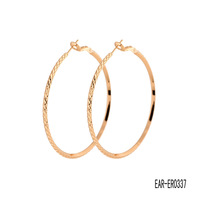 2013 New arrival fashion gold plated jewelry round hoop earrings for women EAR-ER03537