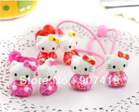 Free shipping+20pcs/lot, kids'&baby girl's Hello Kitty elastic hair bands, hairwears (ET0045)