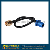 """Universal Fakra Plug""""C"""" to SMA Plug pigtail Cable wireless extension cord"""