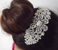 Bridal Wedding Prom Flower Silver Sparkling Diamante Hair Comb Wedding Comb Bridal Comb Hair Jewelry Bridal Accessories Headwear