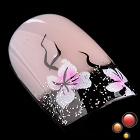 Nadeco 24 pcs Pre Design French Short False Nail Tips Nail Art Predicure Simple Design(China (Mainland))