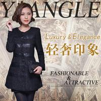 Woolen outerwear female trench overcoat 2013 medium-long outerwear 8336