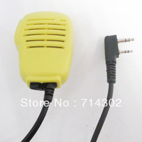 Free shipping yellow colour microphone speaker  for BAOFENG UV-5R UV-B5 walkie talkie