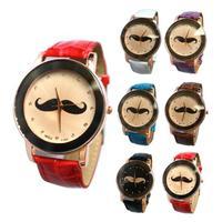Mustache Men Boy Women Lady Girl Beard Unisex Quartz Wrist Watch