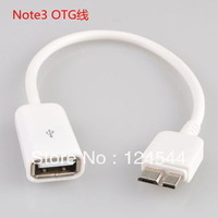 For Samsung Galaxy Note3 N9000 N9005 OTG Cable Micro USB 3.0 Adapter OTG USB Data Cable Galaxy Note3 300pcs/lot free DHL/FEdex