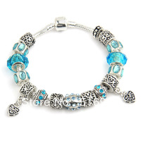 B9 2013 New charm white beads bracelet for woman Free shipping 925 silver chamilia beads bracelets bracelets silver fashion