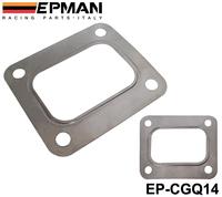 EPMAN T04E T66 T70 GT35 GT40 T4 Turbo Turbine Inlet Gasket T4 Flange Gasket 4 Bolt 304 Stainless Steel EP-CGQ14
