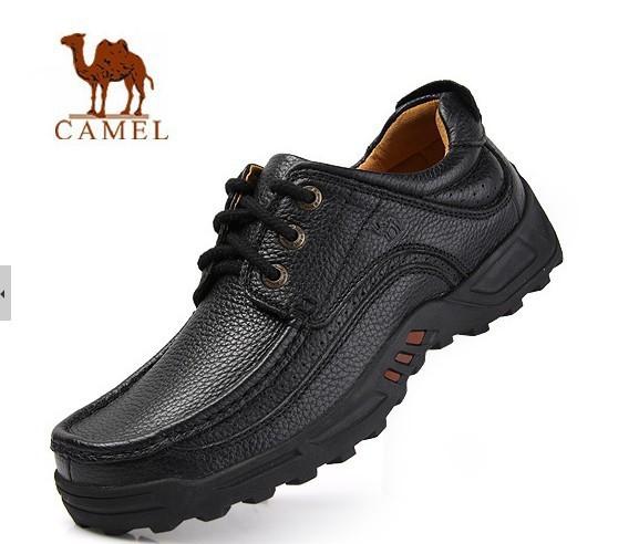 2014 novos chegada autênticos camelo casuais de couro homem sapatos para tamanho 38-44 e grande porte de 45 46 e 47(China (Mainland))
